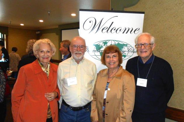 At the So. San Francisco luncheon —Lee Harnett, Ed Wilson, Celeste Graham, Jim Holl.