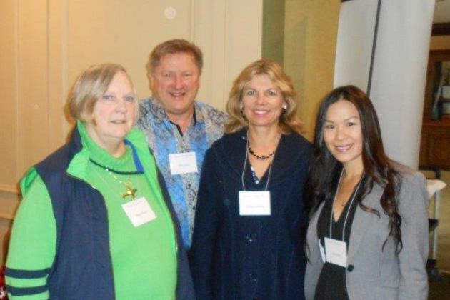 Margo Brady, Bill and Kathryn Hubbs, Lucy Hsu.