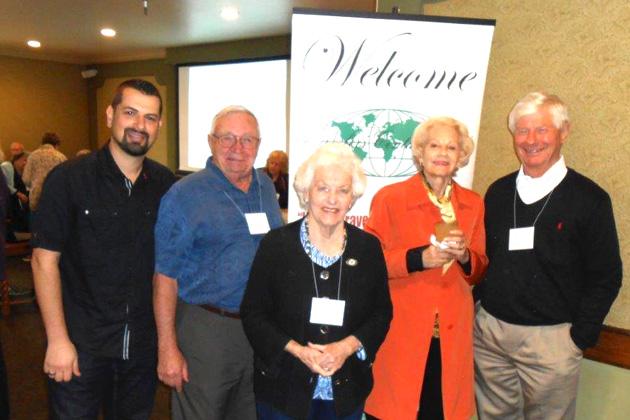March meeting speaker Samer Kawar, with Nick Bowles, Peggy Nute, Lee Harnett, Boyce Nute.