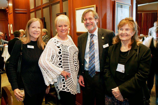 TCC Vice President JoAnnSchwartz, Diane Jarrett, Board Member Chris Hudson and his wife, Lois.