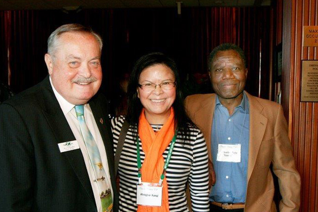 TCC Board Member Kevin Hughes, Hongyu Yang, Charles Toto.