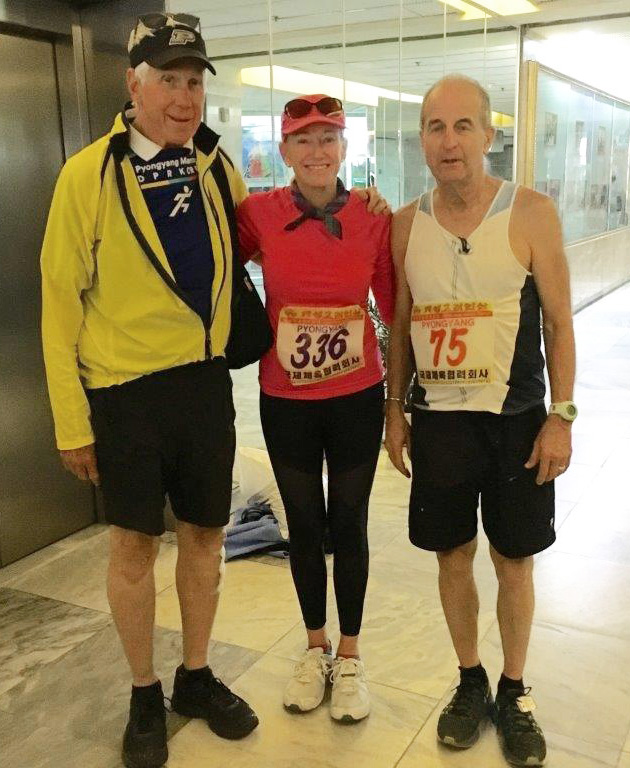 TCC President Gloria McCoy and TCC Kansas City Coordinator Steve Fuller were among the participants in the April Marathon in Pyongyang, North Korea. They're pictured with Charlie McCoy, at left.
