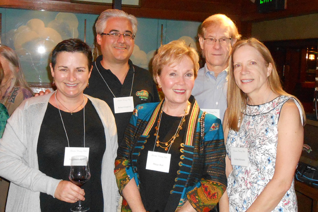 Northern California members (l-r) Jemetha Cosgrove, Robert Cosgrove, speaker Margo Bart, John Kerns, TCC Vice-President, JoAnn Schwartz.