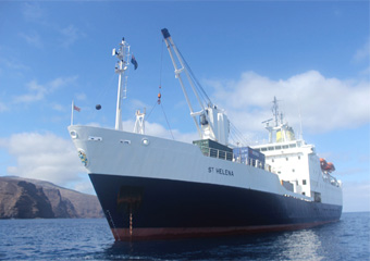 RMS St. Helena (photo by Kevin Hughes)