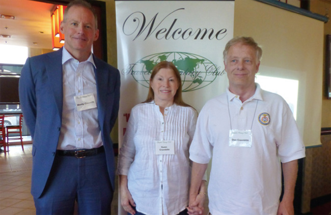 The Denver chapter extends a warm welcome to new members (l-r) Monty Cleworth, Gwen Cramblitt, and Don Cramblittl