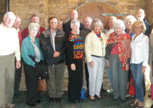 The Indiana chapter members enjoy a pleasant afternoon of sharing great travel experiences.