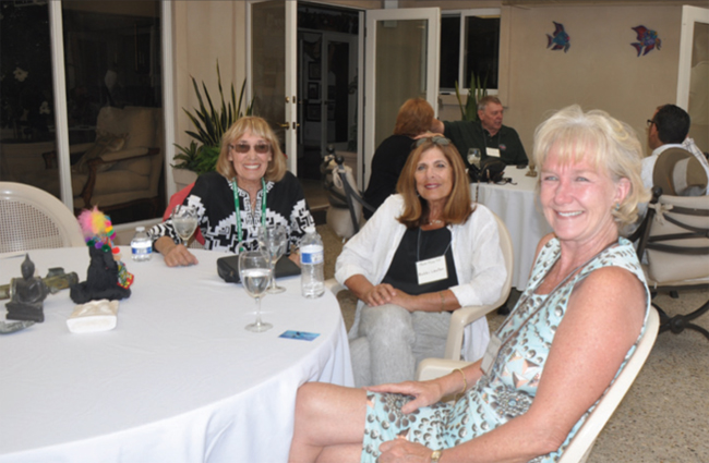 Left to right: Judy Endeman, Bobbi Laufer, and Sharon Machold enjoy a perfect day in San Diego.