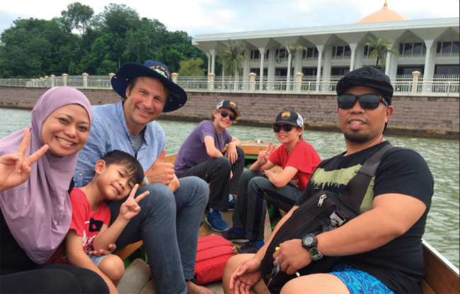 Dave Santulli, his boys Troy and Tristan, and some new friends are off to visit the world's largest water village in Bandar Seri Begawan, Brunei.