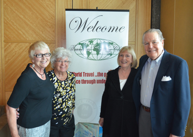 Attending the Western Canada meeting are (left to right): Patti van Humbeck, presenter; Carole Henderson, and new members Elizabeth Fraser and Don Jackson.