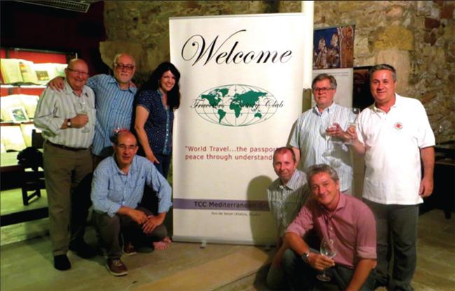 TCC members meet up in Altafulla, Spain. Lstanding: Juan Pons, Martin Garrido, Pamela Barrus, kneeling: Franesc Borrull; R-standing: Frans Lettenstrom, Jorge Sanchez, kneeling: Emili Xaus, Nicola Coratella.