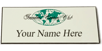 Engraved Name Tag With Magnetic Backing